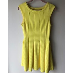 a'gaci Yellow Fit and Flare Dress